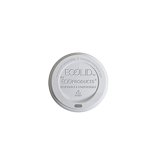 Eco-Products - Renewable & Compostable Hot Cup Lid - Fits 20oz Insulated Hot Cup - EP-ECOLID-N20 (Case 600)