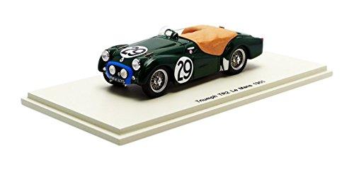 Spark S1393 – Triumph TR2 – Le Mans 1955 – Maßstab 1/43 – Grün/Blau
