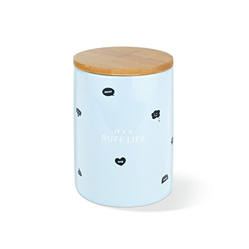 FRINGE STUDIO Ruff Life Small Ceramic Treat Jar (463001)