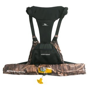 Stearns Suspenders Manually Inflatable Sportsman's Chest Pack, RealTree Max-4 Camouflage ()