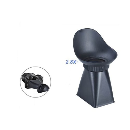 Goliton Camera LCD Viewfinder 2.8X 3 Magnifier Eyecup Hood for Canon 550D - Black