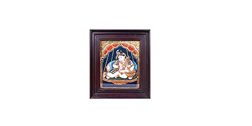Tanjore Paintings - Darbar Krishna by Tanjore Paintings