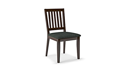 Urban Ladder Diner Dining Chairs   Set of 2  with Upholstery, Finish : Dark Walnut