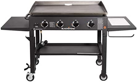 Blackstone 36 Inch Outdoor Flat Top Gas Grill Griddle Station 4 Burner Propane Fueled Restaurant Grade Professional Quality With New Accessory Side Shelf And Rear Grease Management System Amazon Sg Lawn Garden