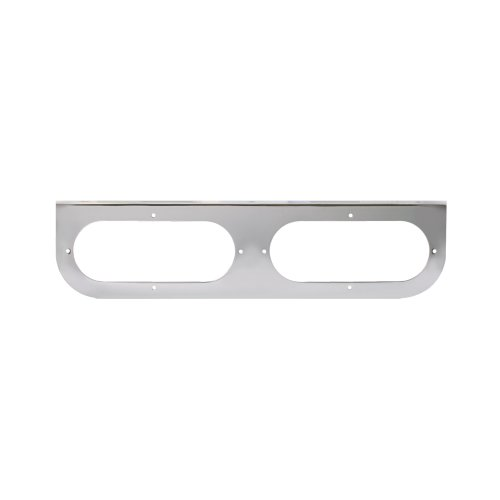 Grand General 81440 Chrome L-Shaped Mounting Bracket with 2-Oval Hole for Standard Oval Lights