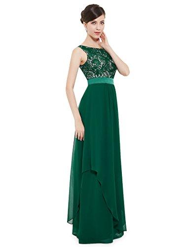 Grün Damen Armlos 08217 Elegant Ever Runder Kragen Pretty Abendkleider gP8W57fCn