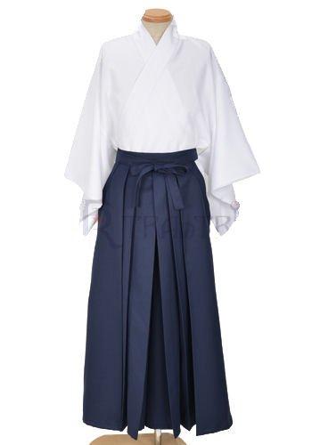 着物袴セット コスチューム 白×紺 メンズ Lサイズ   B00FWKBRPA