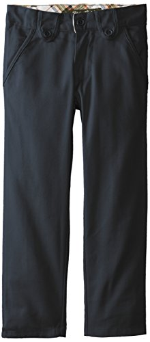 Eddie Bauer Little Girls' Twill Pant (More Styles Available), Skinny Navy-IJUHC, 7 (Slim Girls Flat Front)