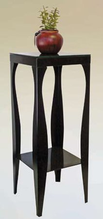 Phone / Plant Stand in Black Finish (Pedestal Plant Stand Finish)