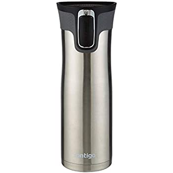 Contigo AUTOSEAL West Loop Vacuum-Insulated Stainless Steel Travel Mug with Easy-Clean Lid, 20 oz, (Stainless Steel, 4 Pack)