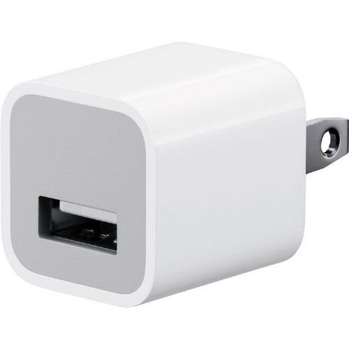 Apple A1385 USB Cube Adapter 5W Wall Charger for iPod, iPad, iPhone 5/5c/5s/6/6s/7 Plus (Certified Refurbished)