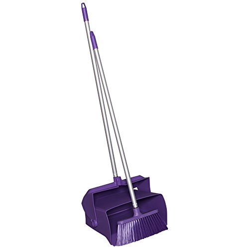 Remco 62508 Lobby Dustpan with Broom, Polypropylene/Polyester/Aluminum, 7
