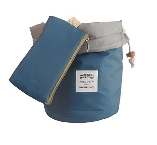 Waterproof Travel Makeup bag Bathroom bag Travel Kit Organizer Cosmetic Bag Carry On Case Bag(Blue)