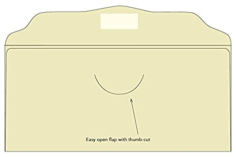500 Blank Cream Offering Envelopes
