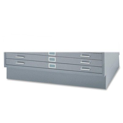 SAFCO PRODUCTS 4999GRR Base For Five-Drawer Stackable Steel Flat Files, 53-1/2w x 38-3/4d, Gray by Safco