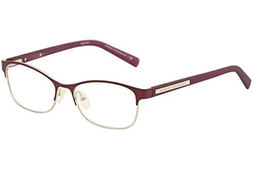 Armani Exchange AX 1010 Women's Eyeglasses Satin Berry Jam/Satin Silver 53