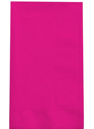(Creative Converting Touch of Color 100 Count 2-Ply Paper Dinner Napkins, Hot Magenta)