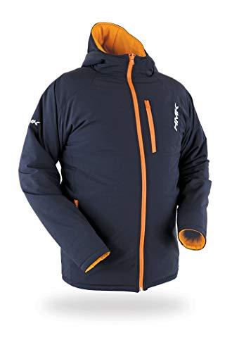 HMK Reverb Reversible Puffy Jacket (2X - Large) Black/Orange (Layer Jacket Puffy)