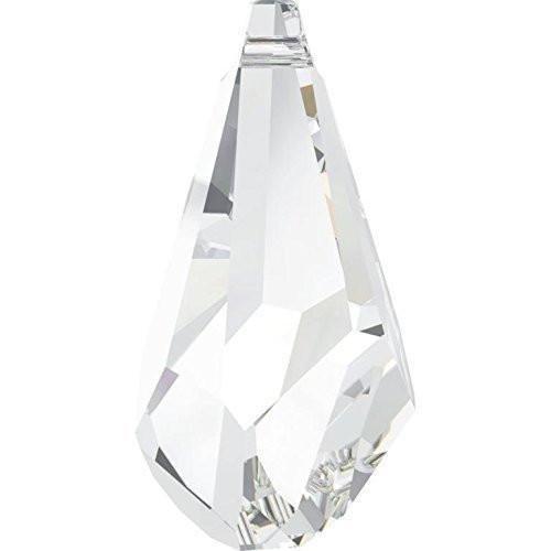 Swarovski Polygon Drop Pendant - 6015 Swarovski Pendant Polygon Drop | Crystal | 50mm - Pack of 6 (Wholesale) | Small & Wholesale Packs