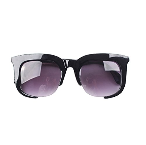 GUGGE Unisex Large Square Frame Sunglasses UV - Deal On Best Bans Ray