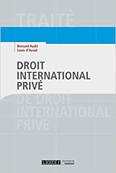 Book's Cover of Droit international privé (Français) Broché – 25 septembre 2018