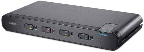 Belkin Advanced Secure DisplayPort KVM Switch; 4-Port Plus F1DN104P