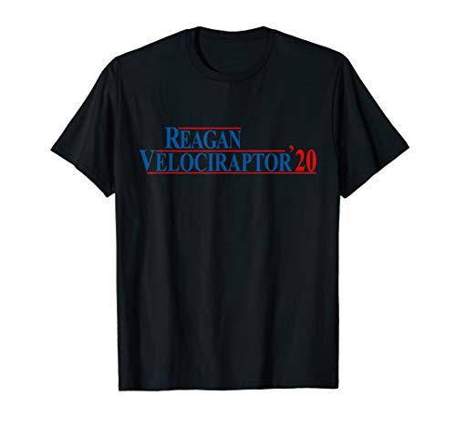Ronald Reagan Velociraptor 2020 presidential election shirt (Ronald Reagan Riding A Velociraptor Tank Top)