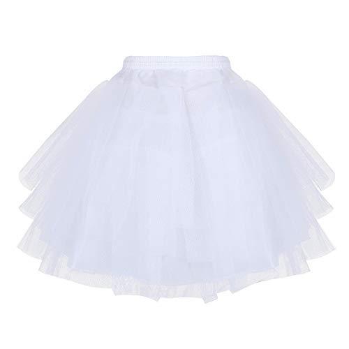 Cinda Bloemenmeisje Bruidsmeisje 4 Laag Wit Onderrok Petticoat One Size