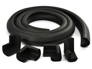 Amazon.com : Funtec Large Size Black Table Edge Soft Guard with 4 ...