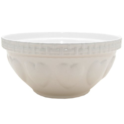 Mason Cash Hearts Mixing Bowl, Cream, 4.25-Quart ()