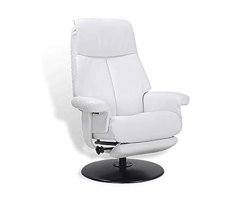 Mikonos - Sillón de Relax de Piel Blanca, salón, Muy cómodo ...
