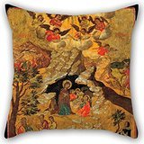 Artistdecor 16 X 16 Inches / 40 By 40 Cm Oil Painting Moskos Ilias - The Nativity Throw Pillow Covers ,2 Sides Ornament And Gift To Home,kids Girls,teens,father,living Room,wife