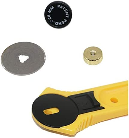Tivollyff 28 / 45mmロータリーカッターパッチワークローラーカッターホイールラウンドナイフ布生地レザークラフトカッターDIYアートクラフトミシンツール