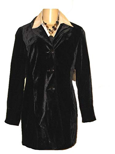 Coldwater Creek $99 Women's Winter Fall Spring Long Velvet Duster Jacket W18 ()