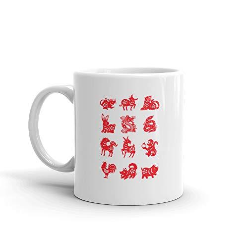 Chinese Zodiac Sign Mug 11 Oz Ceramic ()