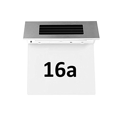 Solar Powered Stainless Steel 2 LEDs Doorplate Lamp House Number Light - 3