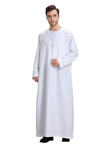 GladThink-Mens-Muslim-Thobe-With-Long-Sleeves-and-Round-Neck