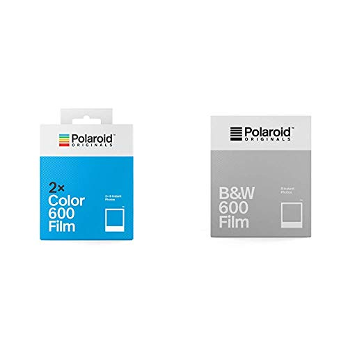 Polaroid Originals Instant Color Film for 600 - Double Pack, White (4841) & Originals B&W Film for 600 (4671)