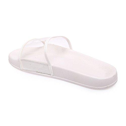 La Modeuse - Sandalias para mujer blanco