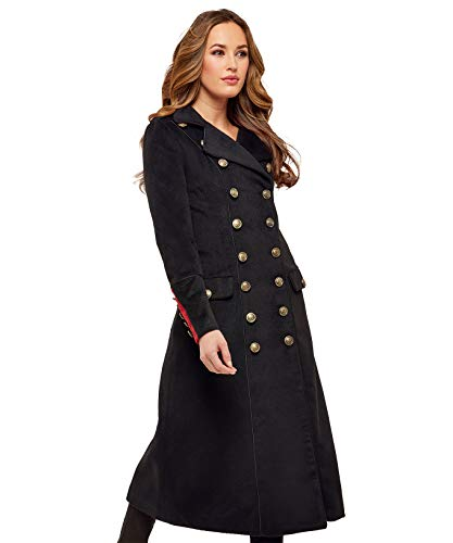 Joe Browns Womens Double Breasted Military Style Coat Black - Double Military Breasted Coat