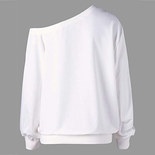 Rovinci Ourlet Taille Longue Blanc Irrgulier Sexy en Blouse Top Grande Impression Vrac l O Neck Bretelles sans Joyeux Manche Chemise No Rouge Femmes Longue ZrqWEwTnZ