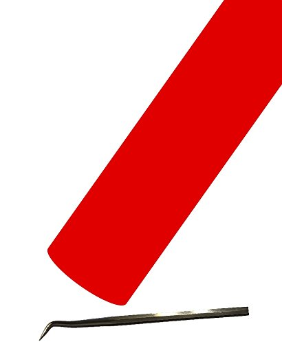 Siser EasyWeed Heat Transfer Vinyl HTV for T-Shirts 12 Inches by 25 Feet Bulk Roll (Bright Red) by Siser