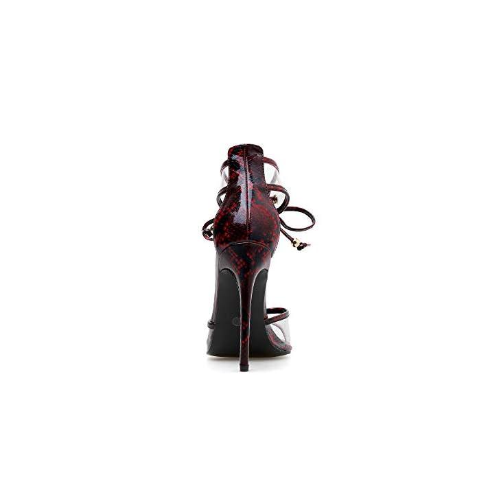 Fengjingyuan Sandali Da Donna -trasparenze Con Cuciture A Punta Cinturini Tacco Alto