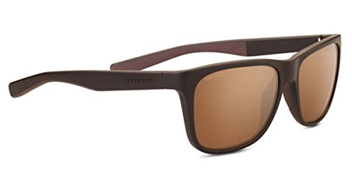 Serengeti Livio Sunglasses, Sanded Brown & Dark Brown by Serengeti