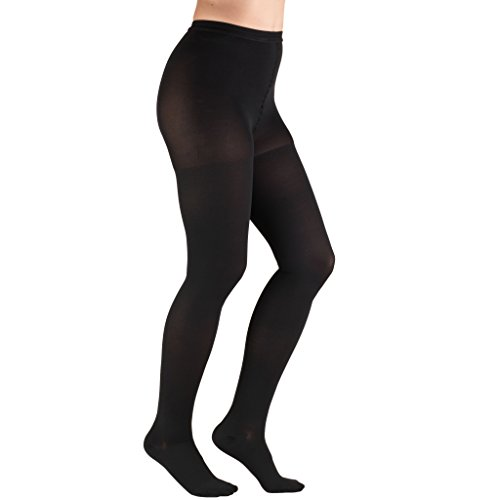 Truform 1756, Compression Pantyhose, 20-30 mmHg, Black, Medium