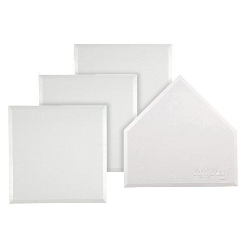 Franklin Sports MLB Heavy Duty Rubber Base Set - 4 White Throw Down Style Bases - Baseball, Softball, or Kickball Home Plate and Bases with Waffle Bottom Construction