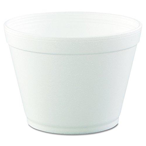 Dart 16MJ32 16 oz Extra Squat Foam Container, 32 Series Lids (Case of 500)