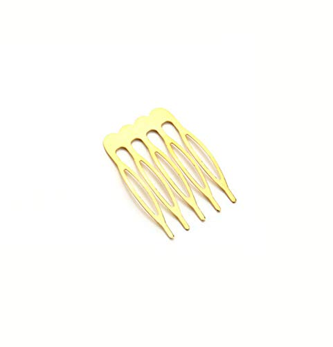10pcs/lot 5/8/10 Teeth Metal Hair Comb Hair Clips Claw Hairpins DIY Jewelry Findings & Components Wedding Hair Jewelry F1810,5 teeth Gold