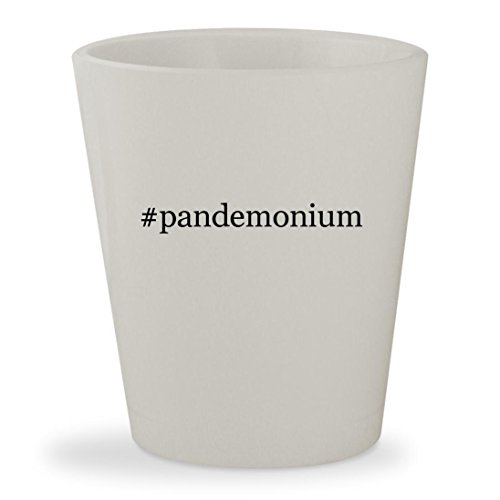 Price comparison product image #pandemonium - White Hashtag Ceramic 1.5oz Shot Glass