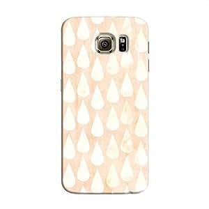 Cover It Up - Raindrops Print Orange Galaxy Note 5 Hard Case